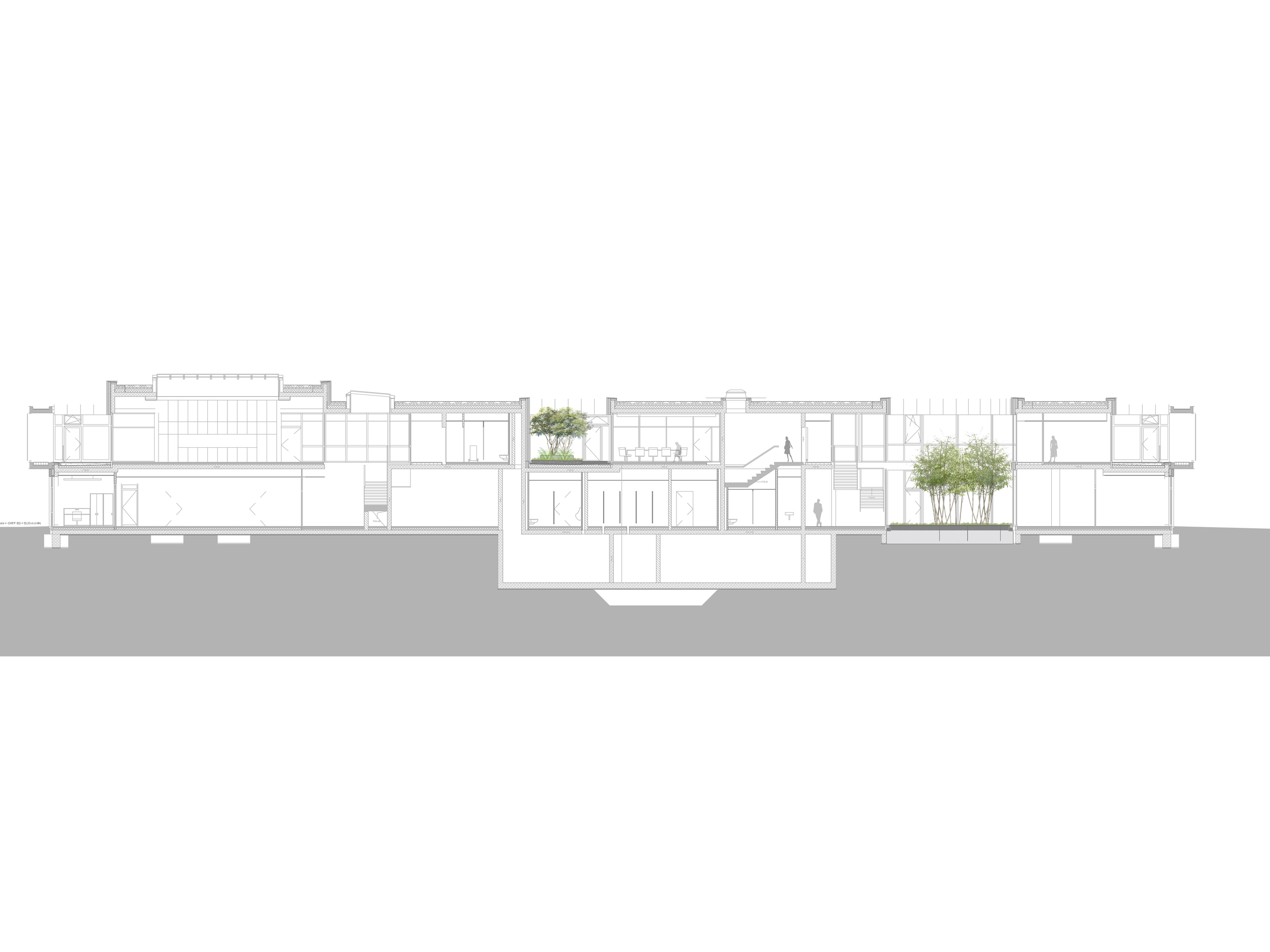 BWB_Vorentwurf_Baufeld-Innenhof-Schnitt-Bestand-aussenanlagen-armbruster-landschaftsarchitektur