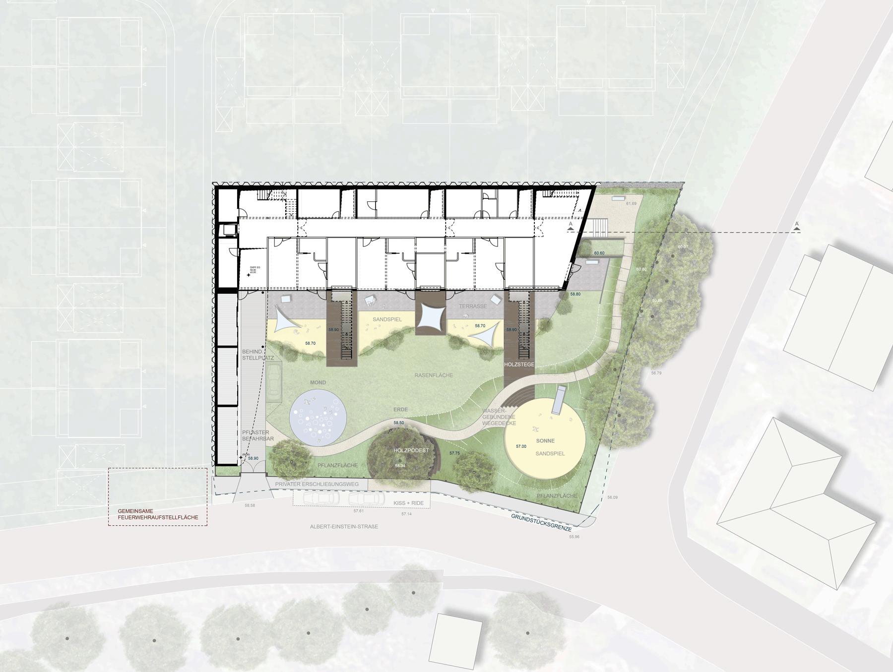Lageplan Kindertagesstätte Einsteinquartier, Potsdam, Brandenburg