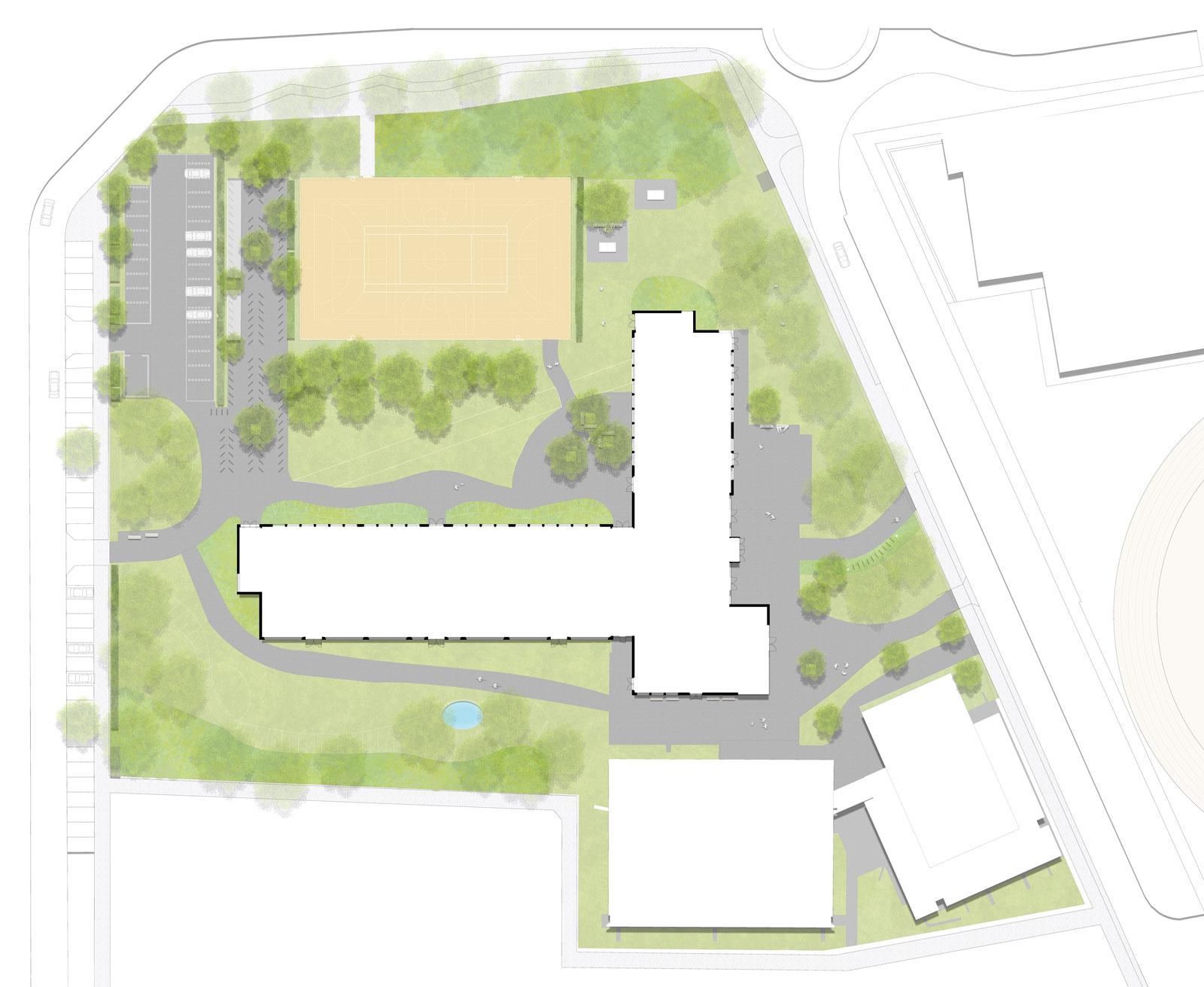 Marie-Curie-Gymnasium-Hohen-Neuendorf-Aussenanlagen-Armbruster