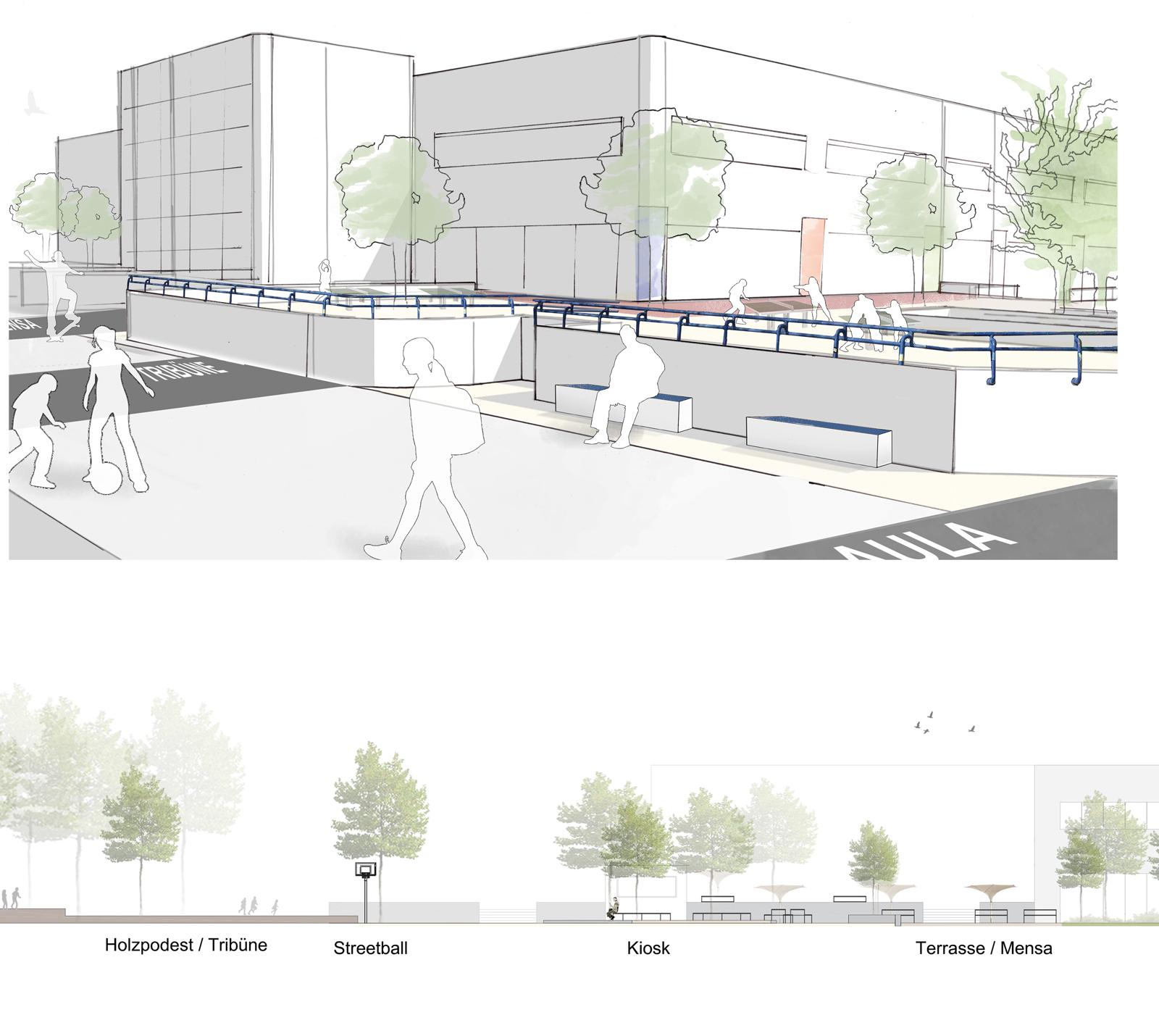 Perspektive-mit-Schnitt-Wettbewerbe-Berlin-Landschaftarchitekturbuero-Armbruster